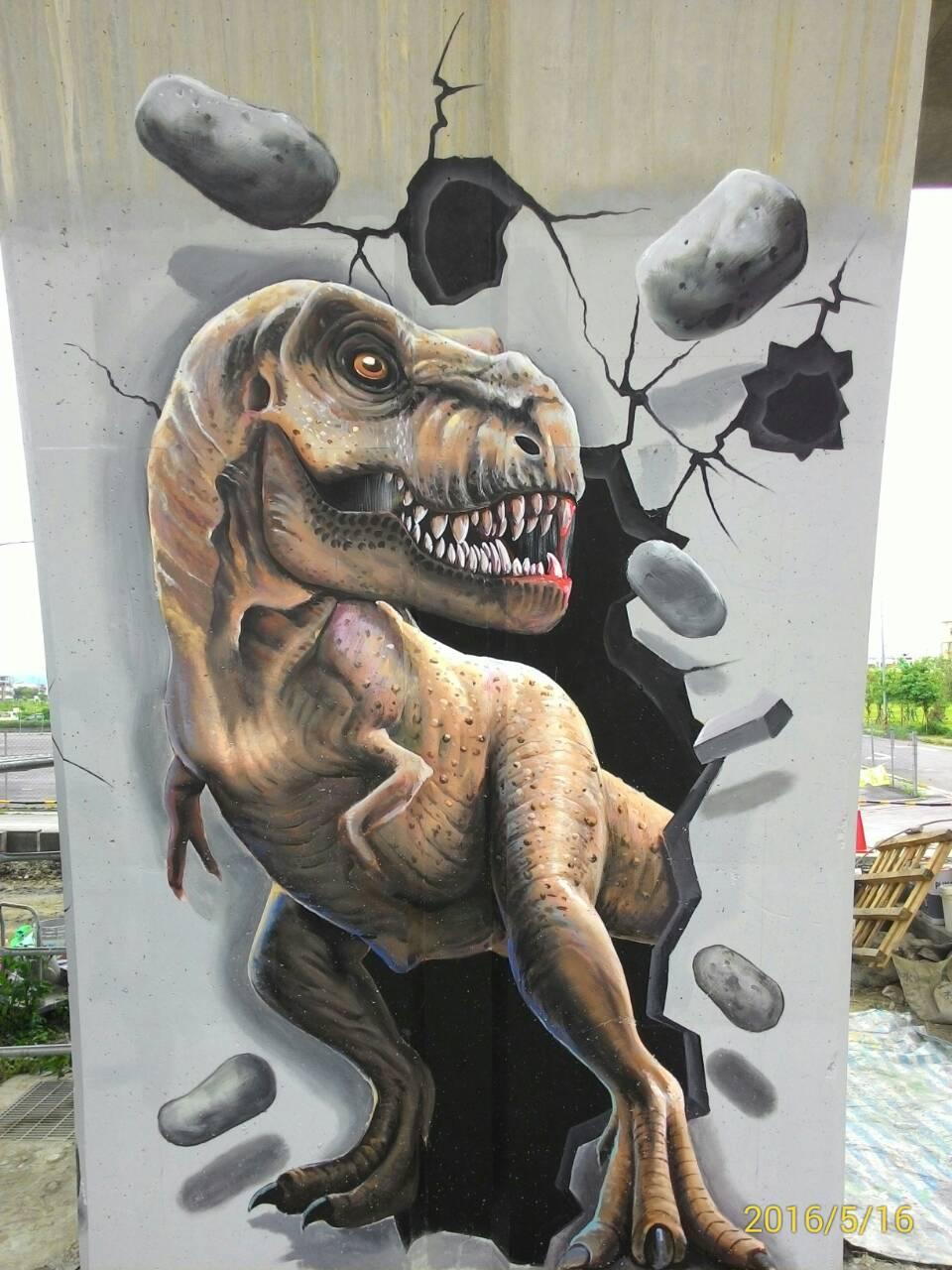 3D彩繪 牆壁彩繪 壁畫 F柱 (10)