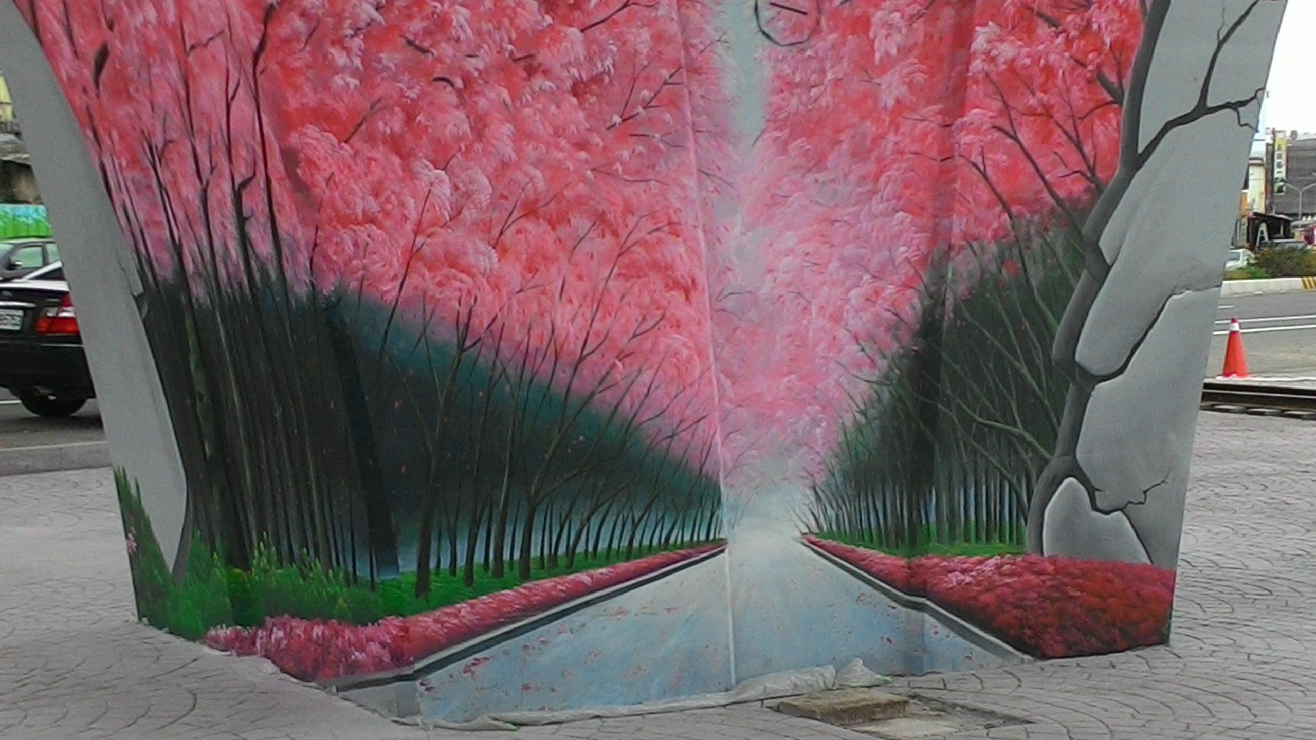 牆壁彩繪 3D立體壁畫彩繪 (36)
