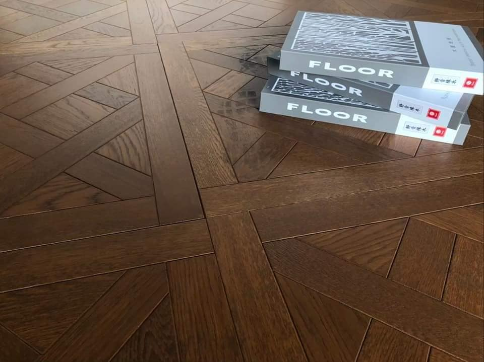海島型天然木皮 藝術拼花木地板